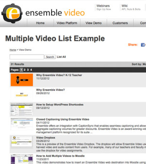 Ensemble Video Playlist Example