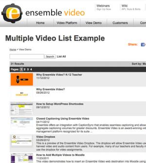 Ensemble Video Playlist Example