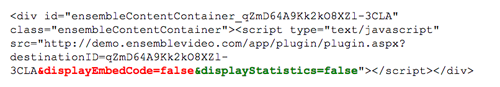 remove embed codes & statistics